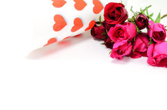 Happy Valentine's Day. Roses and hearts for my beloved Valentine Royalty Free Stock Images