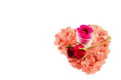 Happy Valentine's Day. Roses and hearts for my beloved Valentine Royalty Free Stock Photography