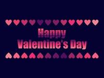 Happy Valentine`s Day in 80`s retro style. Text in the futuristic style, neon. Vector Stock Photo