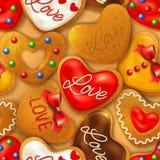 Happy Valentine's day seamless background Stock Image