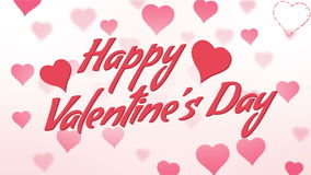 Happy Valentine's Day Seamless Loop. Very smooth and cute valentine's animation loop stock footage