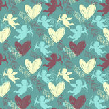 Happy Valentine's Day. Seamless pattern Stock Photos