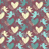 Happy Valentine's Day. Seamless pattern Royalty Free Stock Images