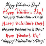 Happy Valentine`s Day. Set of calligraphy text. Vector illustration. Happy  Valentine`s Day. Set of calligraphy text. Vector illustration Stock Photos