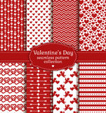 Happy Valentine's Day! Set of love and romantic seamless pattern Royalty Free Stock Images