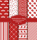 Happy Valentine's Day! Set of love and romantic seamless pattern Stock Photo