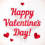 Happy Valentine's Day sign in folded paper style Royalty Free Stock Photos