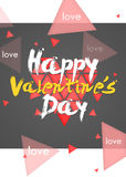 Happy Valentine's Day Simple Card Portrait. Dark Stock Photography