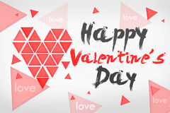 Happy Valentine's Day Simple Card. White Background Royalty Free Stock Photography