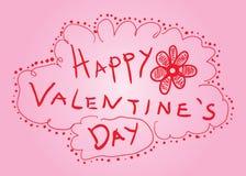 Happy Valentine'S Day Sketck Card Stock Photos