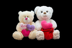 Happy Valentine's Day. Soft toy Royalty Free Stock Images