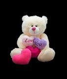 Happy Valentine's Day. Soft toy stock image