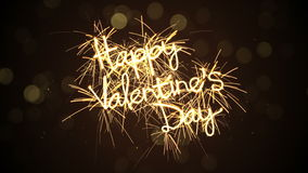 Happy valentine's day sparkler animation last 5s loopable 4k (4096x2304) stock video footage