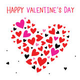Happy Valentine's Day Sweetheart Cute Cartoon Vector Royalty Free Stock Photography