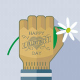 Happy Valentine's Day tattoo greating card Stock Photography