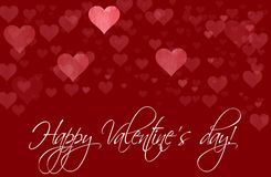 Happy Valentine's day template Royalty Free Stock Photos