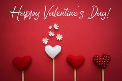 Happy Valentine`s day text. Background for Valentine`s day Stock Images