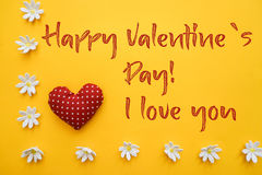 Happy Valentine`s day text Royalty Free Stock Images