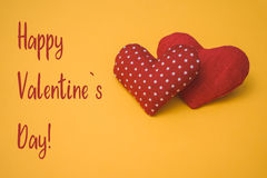 Happy Valentine`s day text Stock Photos