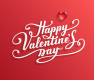 Happy Valentine s Day text. Royalty Free Stock Photography