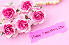 Happy valentine's day text Royalty Free Stock Photo