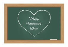 Happy valentines day text on chalkboard Royalty Free Stock Images