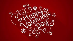 Happy valentine's day text flat style animation 4k (4096x2304) stock video footage