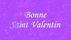 Happy Valentineu0027s Day Text In French Bonne Saint Valentin Turns To Dust  From Left On Purple