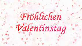 Happy Valentine's Day text in German Frohlichen Valentinstag on light background Royalty Free Stock Photography