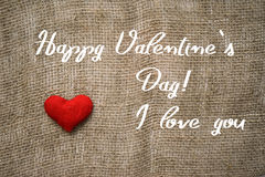 Happy Valentine`s day text and heart. Background for Valentine`s day Royalty Free Stock Image