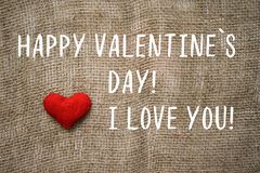 Happy Valentine`s day text,i love you. Background for Valentine`s day Stock Photos