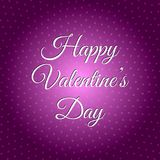 Happy Valentine`s Day. The 14th of February Royalty Free Stock Image