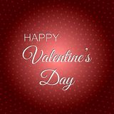 Happy Valentine`s Day. The 14th of February 2018 Royalty Free Stock Photos