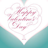 Happy Valentine\'s Day type text Stock Photos