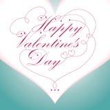 Happy Valentine\'s Day type text Stock Photos