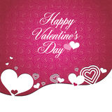 Happy valentine\'s day type text on heart shape Royalty Free Stock Image