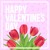 Happy Valentine`s day!  Typographic poster design with realistic. Happy Valentine`s day typographic poster Royalty Free Stock Images