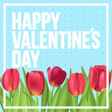 Happy Valentine`s day!  Typographic poster design with realistic. Happy Valentine`s day typographic poster Stock Photography