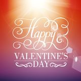 Happy Valentine's day typographical background. Stock Photo