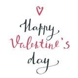 Happy valentine`s day - typography poster. Stock Photos
