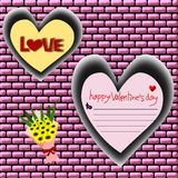 Happy valentine's day, Valentine's Day greeting card Royalty Free Stock Photos
