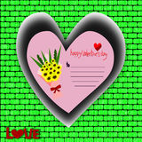 Happy valentine's day, Valentine's Day greeting card Royalty Free Stock Photography