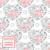 Happy valentine's day. Valentine seamless pattern. Vector Illust Royalty Free Stock Photos