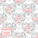 Happy valentine's day. Valentine seamless pattern. Vector Illust Stock Photos