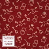 Happy valentine's day. Valentine seamless pattern. Vector Illust Royalty Free Stock Photo