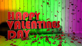 Happy valentine's day. Happy Valentines day decoration of 3d letters Royalty Free Illustration