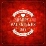 Happy Valentine's day Vector Background Stock Image