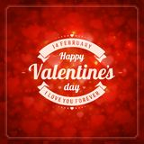 Happy Valentine's day Vector Background Royalty Free Stock Photos
