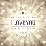 Happy Valentine's day Vector Background Royalty Free Stock Photo