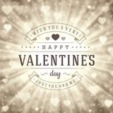 Happy Valentine's day Vector Background Royalty Free Stock Images